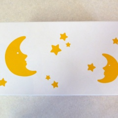 Geschenksbox mit Mond und Sternen