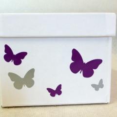 Geschenksbox mit Schmetterlingen