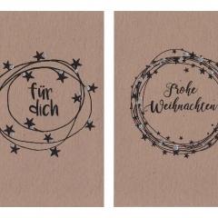Kraftpapierkarte A7 / C7 Weihnacht 1