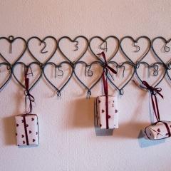 Herzhaken für Adventskalender