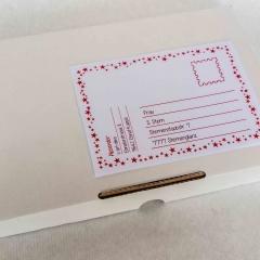 Weihnachtspäckli Etikette rot