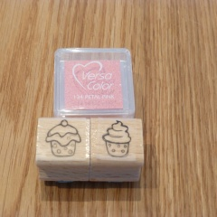 Stempel Set cupcakes 1 rosa