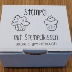 Stempel Set cupcakes 2 hellblau