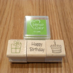 Stempel Set Geburtstag grün