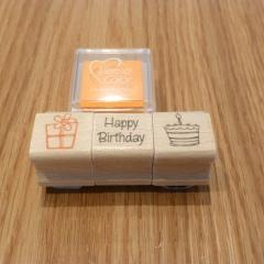 Stempel Set Geburtstag orange