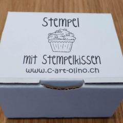 Stempel cupcake violett