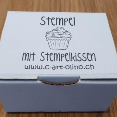 Stempel cupcake hellblau