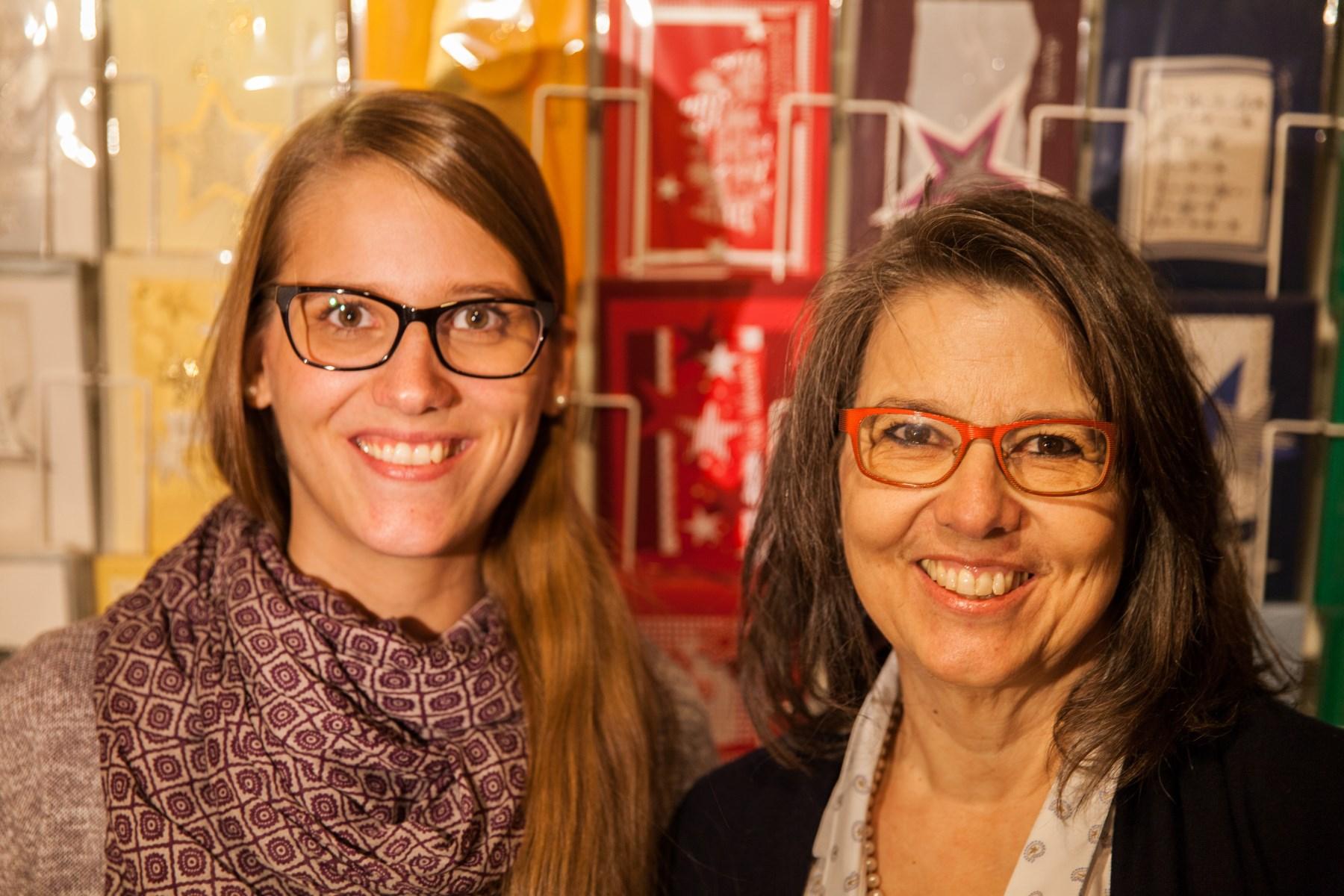 c-art-olino Team: Aline und Christine Schälli